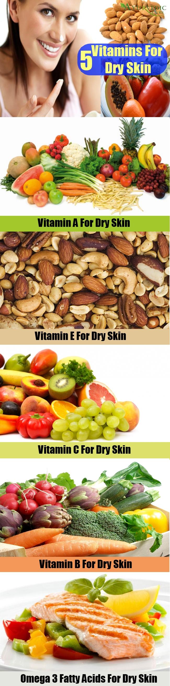 5 Vitamins For Dry Skin