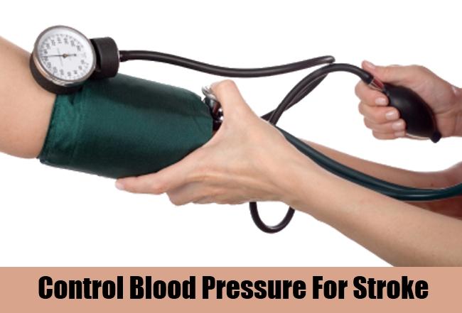 Control Blood Pressure For Stroke