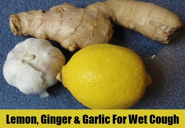 Lemon, Ginger & Garlic For Wet Cough
