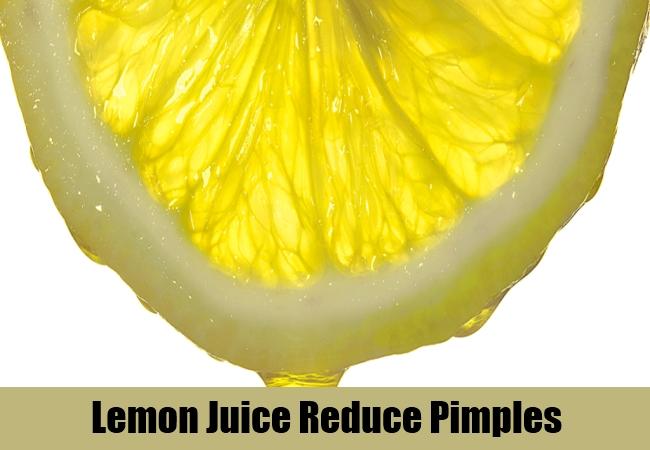 Lemon Juice Reduce Pimples