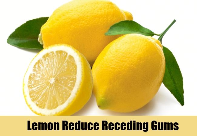 Lemon Reduce Receding Gums