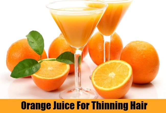 Orange Juice For Thinning Hair