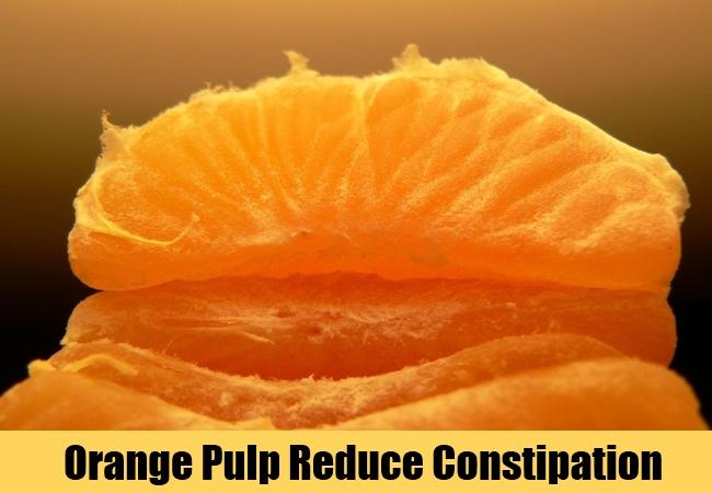 Orange Pulp Reduce Constipation