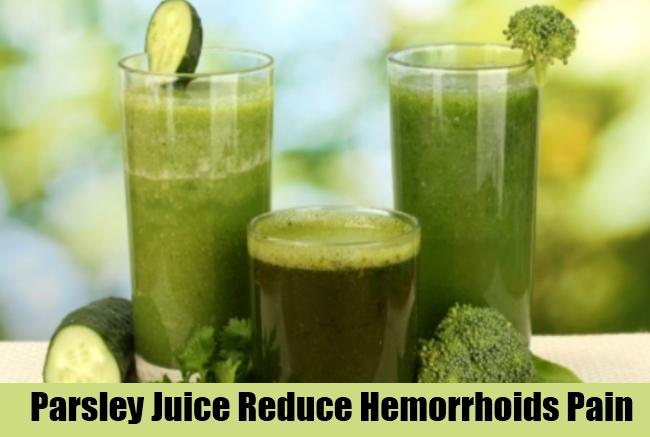 Parsley Juice Reduce Hemorrhoids Pain