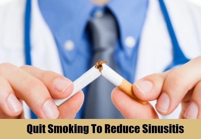 Quit Smoking To Reduce Sinusitis