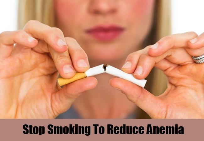 Stop Smoking To Reduce Anemia