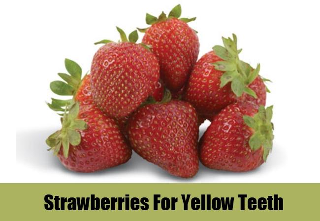 Strawberries For Yellow Teeth