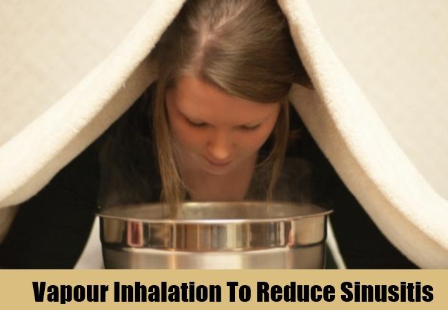 Vapour Inhalation To Reduce Sinusitis