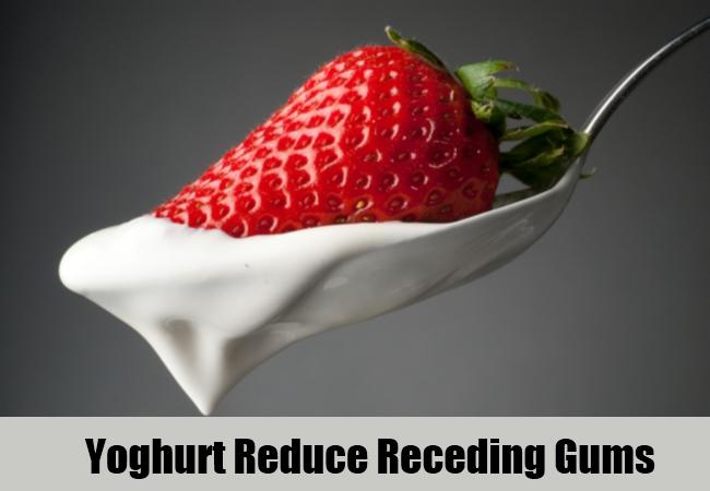 Yoghurt Reduce Receding Gums