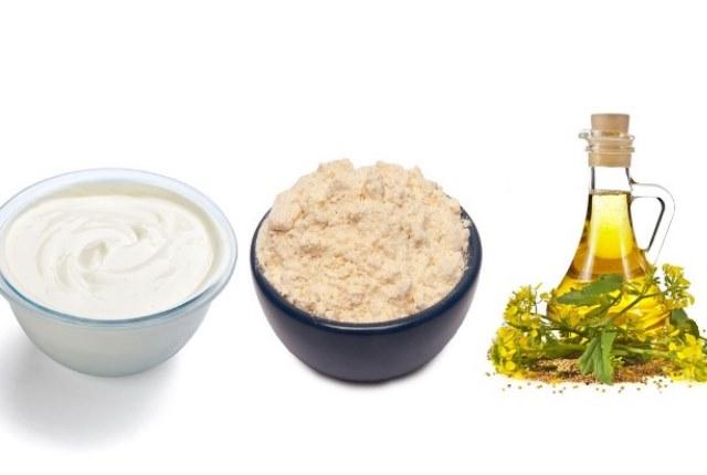 Yogurt, Chickpea Powder And Mustard Oil
