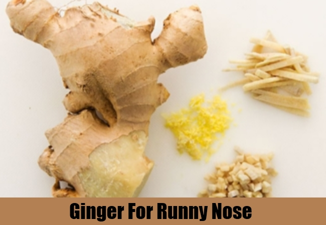 Ginger For Runny Nose
