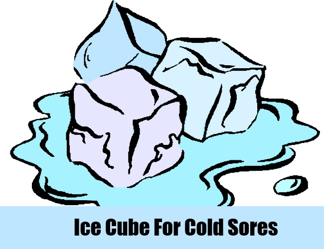 Ice Cube For Cold Sores