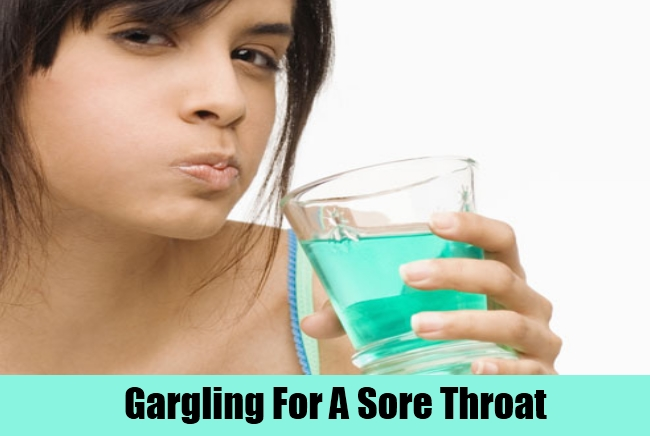 Gargling For A Sore Throat