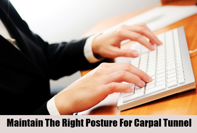 Maintain The Right Posture For Carpal Tunnel