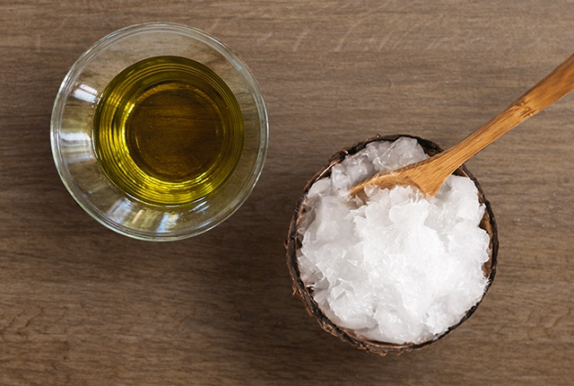 Massage With Coconut Or Olive Oil