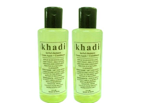 Khadi Herbals Green Apple Shampoo